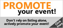 ACTIVELY Promote your event on this site